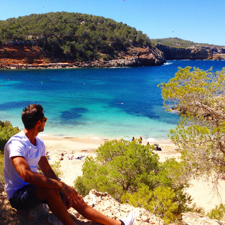 Cala sala da Ibiza viaggio travel blogger Summer 2015 estate mare sole spiaggia Stefano Colicchio
